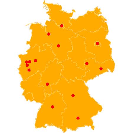 Karte von DE